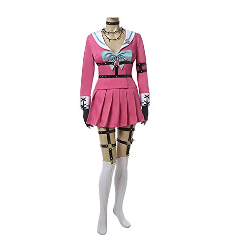 CO&CO Danganronpa V3 Anime Cosplay Costume MIU IRUMA Vestido para Mujer Set Top Halloween Party(Size:SG)