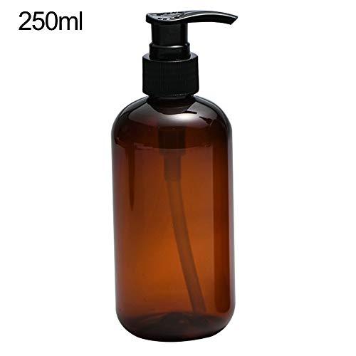 tianxiangjjeu bruin Shampoo persfles, 250ml-500ml douchegel subfles cosmetische vloeistof opslag tank