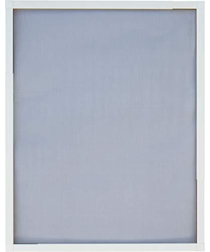 Schellenberg 70080 Insektenschutz-Fenster Telescope, Aluminium-Rahmen und Fiberglas-Gewebe, Max. 140 x 150 cm, ohne Bohren und Sägen zu Montieren, Individuelle Größe durch Herausziehen