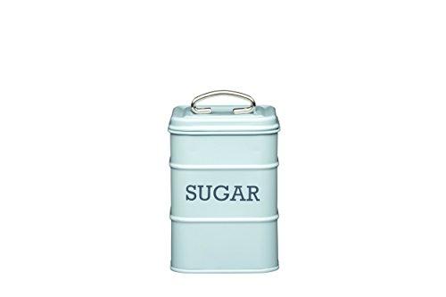 Kitchen Craft LNSUGARBLU Living Nostalgia suikerpot, tin, vintage blauw