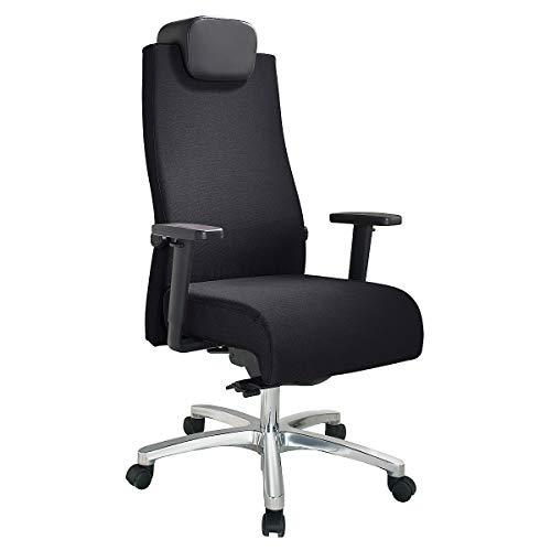 Preisvergleich Produktbild Bürodrehstuhl / Belastbar bis 150 kg / Punktsynchron-Mechanik / Schiebesitz / Mit Kopfstütze / Schwarz / Topstar - Bürodrehstühle office swivel chairs