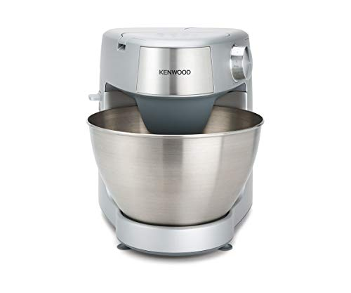 Kenwood Prospero Plus KHC29.A0SI Stand Mixer for Baking, Compact 4.3 Litre Bowl, 3 Bowl Tools, 1000 W, Silver