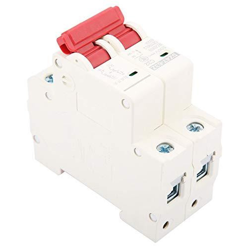 Disyuntor, 2P DC 500V 32A Disyuntor miniatura DC fotovoltaico, Mini disyuntor universal Disyuntor de seguridad MCB, Disyuntor de alta capacidad de ruptura
