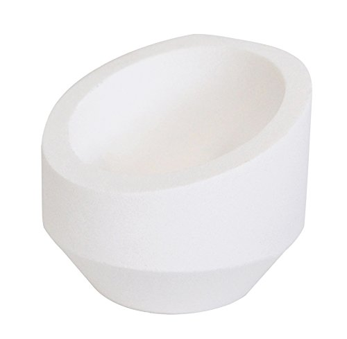 12 oz 3' Diameter Ceramic Alumina High Back Crucible Dish Cup for Melting Casting Refining Gold Silver Copper Scrap Metal Jewelry