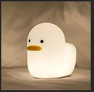 Delicacy Bébé Veilleuse,Lampe de Sommeil Intelligente de Canard Terne Avec Minuterie à Capteur Tactile,Lampe de Table de C...