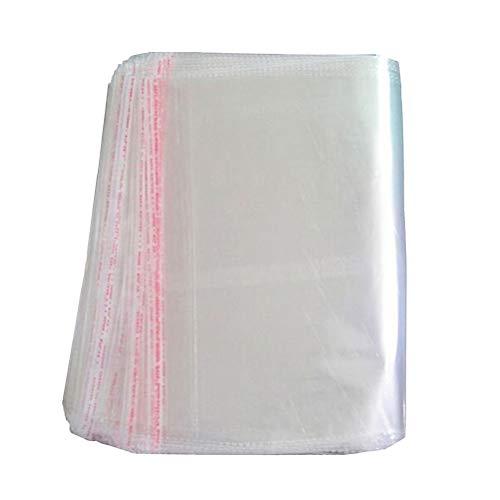 OUNONA Lot de 100 sacs en plastique transparent avec fermeture autocollante Emballage de présentation 25 x 40 cm