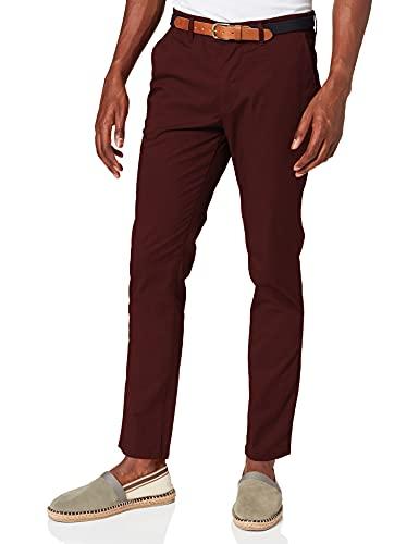 SELECTED HOMME SLHSLIM-Yard B Pants W Noos Pantaloni, Marrone (Bitter Chocolate), W32/L34 (Taglia Produttore: 32) Uomo