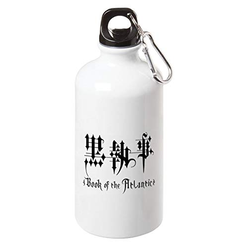 Anime Black Butler Book of The Atlantic Sport Water Bottle with Carabiner for Outdoor Camping Cycling