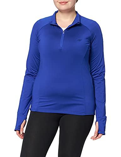 4F DF Acd21 Dril Top Camiseta, Azul, M-L para Mujer