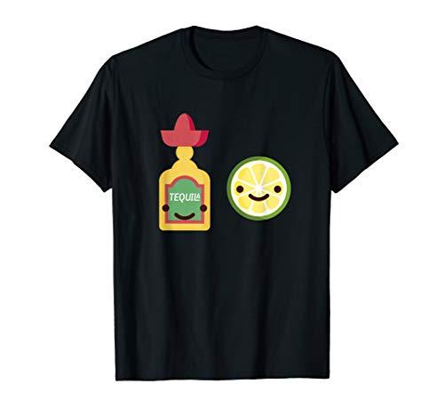Lächelnde Tequila Flasche & Limette Mexikanischer Alkohol T-Shirt
