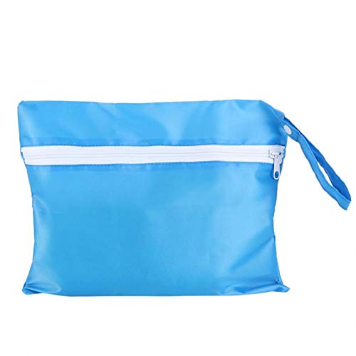 Bolsas de pañales de color opcionales Servicio prolongado Impermeable Cómodo cambio de pañales de tela Oxford para usar en exteriores(blue)