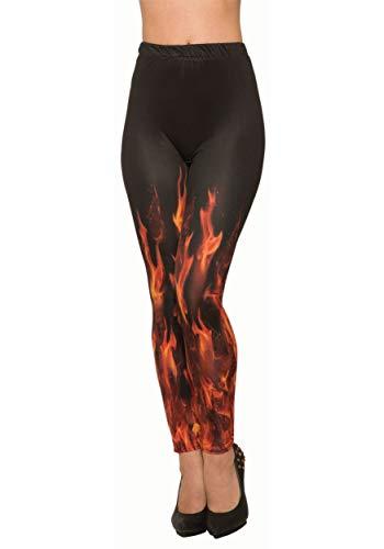 Forum Novelties Women's Standard Demons & Devils-Devil Fire Leggings, Multi, Standard