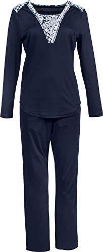Rösch Damen-Schlafanzug Interlock-Jersey Marine Größe 46