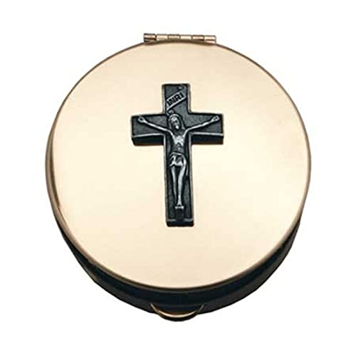 Cathedral Art (Abbey & CA Gift) Polished Brass PYX with Cross/Pill/Keepsake Box