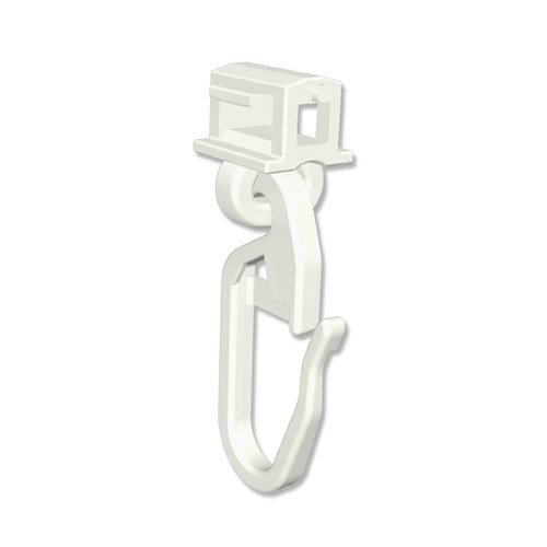 INTERDECO klick-Gleiter Klicki für Gardinenschienen/Vorhangschienen (500 Stück)