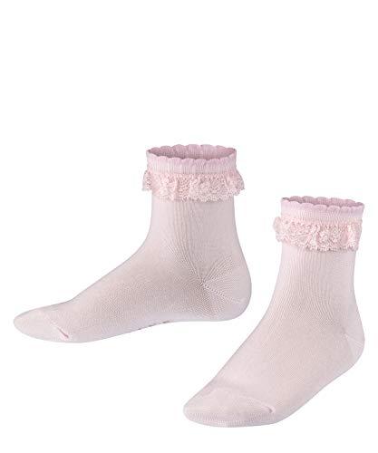FALKE Romantic Lace K SO Calcetines, Rosa (Powder Rose 8902), 19-22 Unisex niños