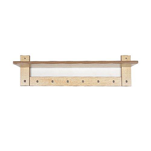 YYHSND 8 Hooks Coat Rack, Wall Coat Hook MDF, Wood Color (L60cm X W11.5cm X H20cm), Carrying 20kg Shelf