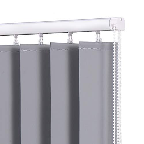 Jalousie Rollos Fensterrollos Vertikale Jalousien mit Aluminiumlegierungsschiene, Polyester-Sundown-Jalousie für Raumteiler/Übergroße Glaswand, 140/100/ 60cm Breite (Langer Tropfen)