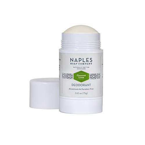 Naples Soap Company All-Natural Vegan Deodorant – Aluminum-Free, Baking Soda-Free, Coconut Lime, 2.65 oz.