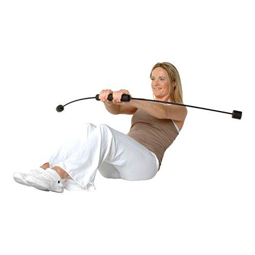 Flexi-Sports Athletic, Schwarz, hochbelastbarer Schwingstab von Flexi-Sports mit Einführungs-DVD und Trainingsplan, Schwungstab, Schwingstick