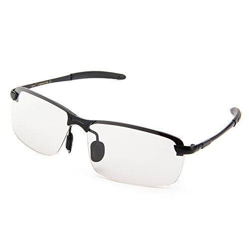 Cyxus Gaming-bril met blauw lichtfilter - computerbril voor gamers, anti-vermoeidheid, anti-blauw licht, UV-bescherming, 3 kleuren lens (transparant, geel, rood) Transparant (55%)