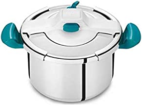 TEFAL Clipso Essential Safe and Easy Pressure Cooker all hobs incl. induction 7.5L Blue Stainless Steal P4464839