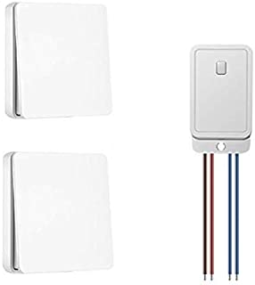 Naican Wireless Lights Switch Kit, No Battery No Wiring, Quick Build or Relocate On/Off Switches for Appliances, Self-Powe...