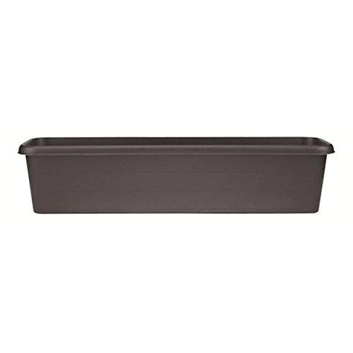 Stewart Plastics Ltd, Fioriera da Balcone, in plastica Resistente, 100 cm, Colore: Nero