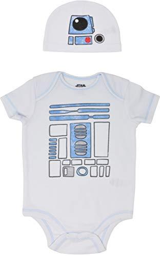 STAR WARS R2-D2 Baby Boys Short Sleeve Costume Bodysuit & Cap Set Newborn