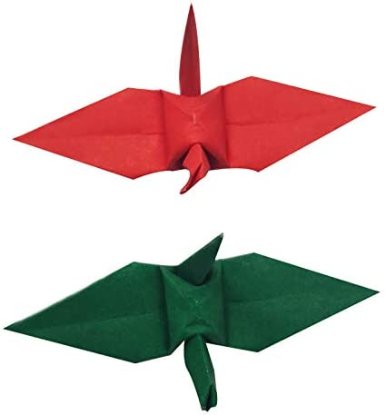 1000 Origami Paper Crane Red Green inches half 7.5 Outstanding 3x3 Cra cm