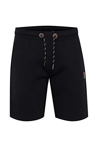 Indicode Kultop Herren Sweatshorts Kurze Hose Jogginghose mit elastischem Bund und Kordelzug, Größe:XXL, Farbe:Black (999)