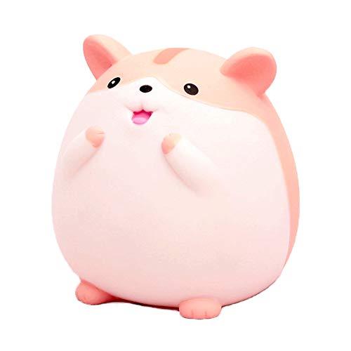Wenwan Sparschwein Münzenbank Hamster Kind Sparschwein,Pink