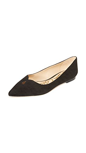 Sam Edelman Women's Ruby Pointed Toe Flat, Black Suede, 6.5 M US