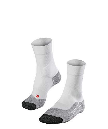 FALKE Damen, RU3 Laufsocken, Funktionsfaser, Wadenlange Runningsocke mit extra Dämpfung für maximalen Schutz auf langen Strecken und hartem Untergrund, Weiß (White-Mix 2020), 37-38, 1er Pack