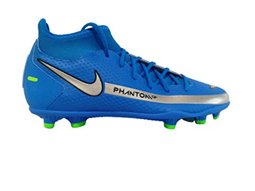 Nike Phantom GT Club DF FG/MG, Zapatillas de ftbol Unisex Adulto, Photo Blue Mtlc Silver Rage Green Black, 44.5 EU