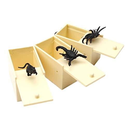 Accessori for la casa giocattolo Prank Prank 3pcs Scare Box divertente realistica Spider mouse Prank giocattoli ingannevoli Props Giocattoli Scherzi del partito del partito di Pasqua zcaqtajro