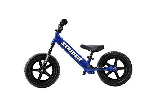 Strider 12 Sport Kinder Laufrad 12 Zoll, Lauffahrrad ab 18 Monate bis 5 Jahre, Balance Bike in Blau