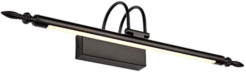 HUIJU European Retro LED Mirror Front Light, 9W Make-up Lighting Acryl-Bathroom Wandleuchten,WarmWeiß,9W56cm