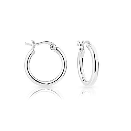 DTP Silver - Argento 925 - Orecchini da donna a Cerchio/Creoli - Spessore 3 mm - Diametro 20 mm