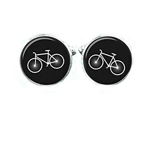 Vintage Boutons de manchette de vélo, bois de vélo Boutons de manchette