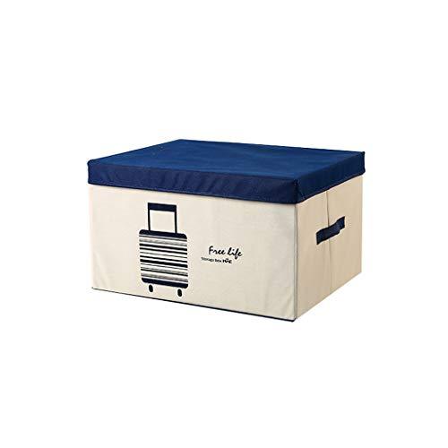 Dongyd Caja de almacenamiento, cestas de almacenamiento plegables de tela con tapas y asas, contenedor de ropa manta para libros, juguetes, DVD, arte y manualidades, lavado de lavandería, organización