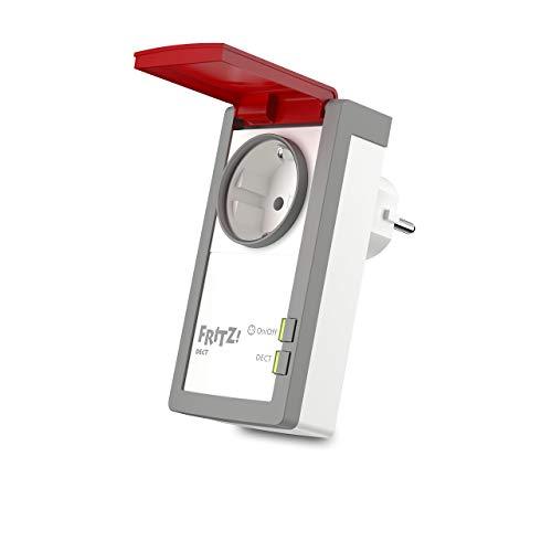 AVM FRITZ!DECT 210 (intelligente Steckdose für Smart Home, mit Spritzwasserschutz (IP 44) für Einsatz im Außenbereich)
