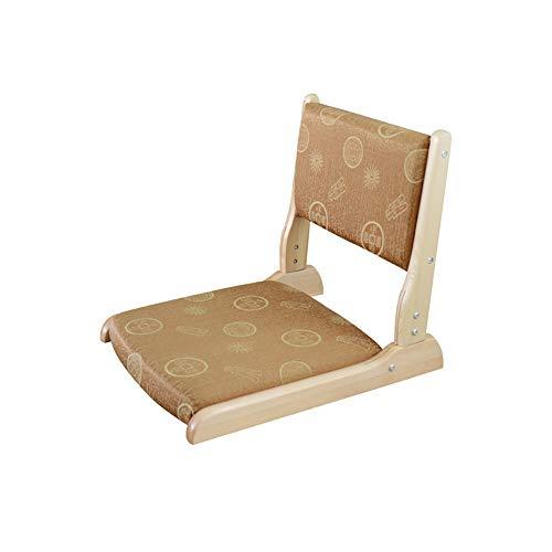 YQQ Chaise Tatami en Bois Massif Banquette Rabattable Tabouret Japonais Chaise De Salle Chaise sans Jambes Dossier (Couleur : 4)