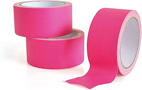 Neon Klebeband pink - 30 m - Neontape - Gaffa - Gewebeband - Panzertape - Duct Tape - Schwarzlicht - UV aktiv, fluoreszierend