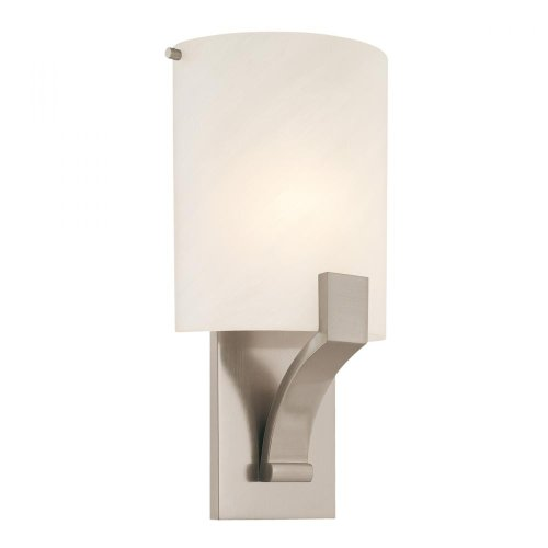 Sonneman 1851-13F 1851.13F Transitional One Light Wall Sconce from Greco Collection in Pwt, Nckl, B/S, Slvr. Finish, Silver -  Lumtopia--DROPSHIP