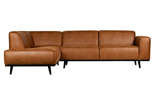 BePureHome Ecksofa Recycle Leder Statement Cognac Rechts oder Links 274 x 210 (Links)