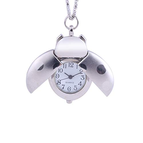 HunYUN Fashion Simple Minimalist Jewelry Creative Small Seven-Star Ladybug Pocket Watch for Child Customized Gift