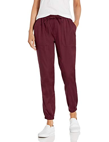 Daily Ritual Women's Stretch Tencel Relaxed-Fit Drawstring Jogger Pant, Fig, X-Large