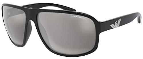 Emporio Armani 0EA4130 Gafas De Sol, Negro, 63 para Hombre