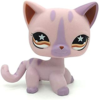 LPS Shorthair #933 Purple Red Eyes Cat Littlest Pet Shop Collector Toy Collectible Replacement Single Figures
